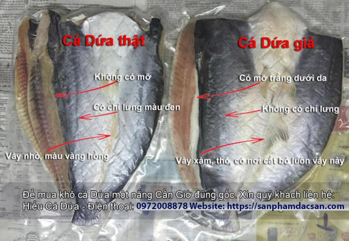 Cách phân biệt khô cá dứa thật và khô cá dứa giả